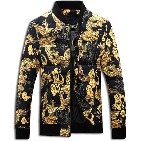 Gold Dragon Bomber Jacket