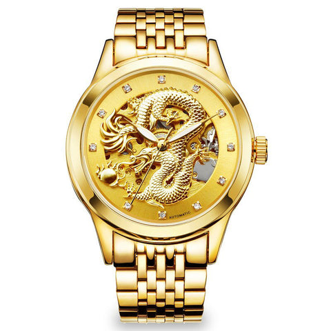 Golden Dragon Automatic Watch (Gold)