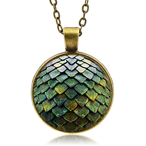 Green Dragon Scale Necklace