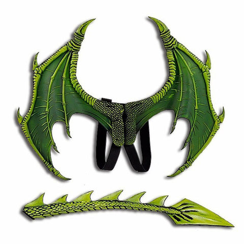 Rhaegal Green Dragon Wings Costume