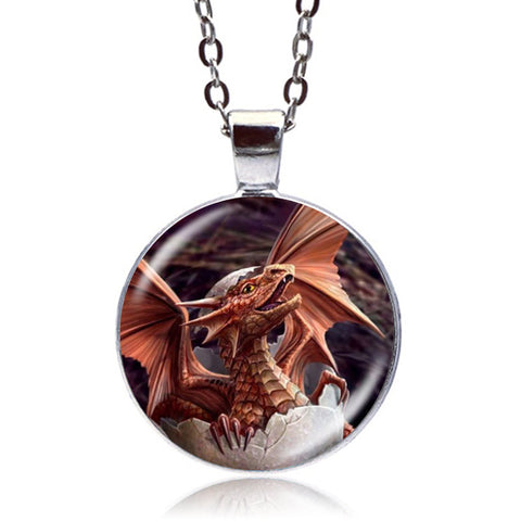 Hatching Dragon Necklace (Silver)