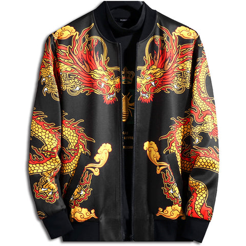 Jacket with Dragons on the Chest
