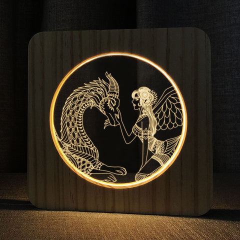 Japanese Dragon Lamp