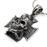 Maltese Cross Dragon Necklace (Stainless Steel)