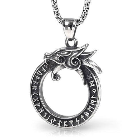 Ouroboros Dragon Pendant (Stainless Steel)