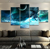Moon and Dragon Canvas
