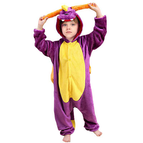 Purple Dragon Kigurumi for Children