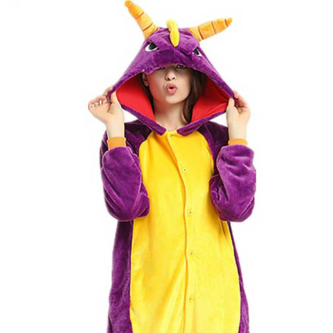 Purple Dragon Pajamas for Adults