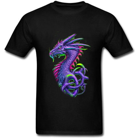 Psychedelic Purple Dragon T-shirt (Black)