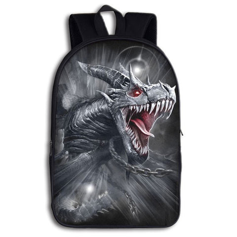 Silver Dragon Backpack