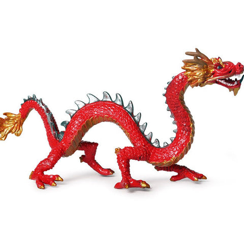 Small Red Chinese Dragon Figurine
