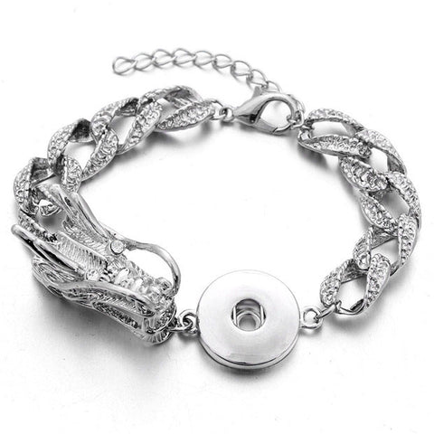Snap Button Dragon Bracelet