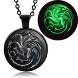 Targaryen Dragon Glow In The Dark Pendant (Black finish)