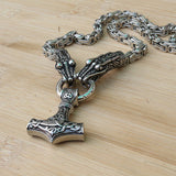 Thor's Hammer Dragon Necklace