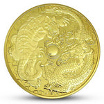 Tiger and Dragon Gold Coin