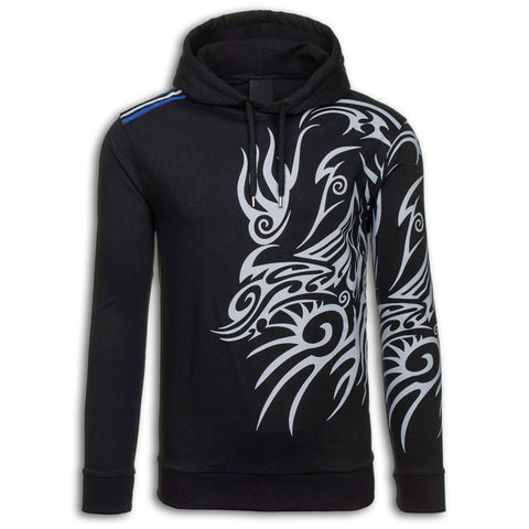 Tribal Dragon Hoodie (black)