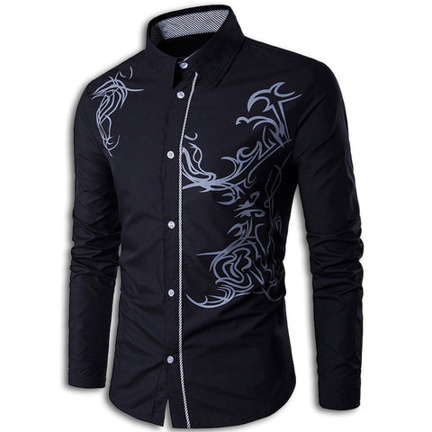 Tribal Dragon Shirt (Black)