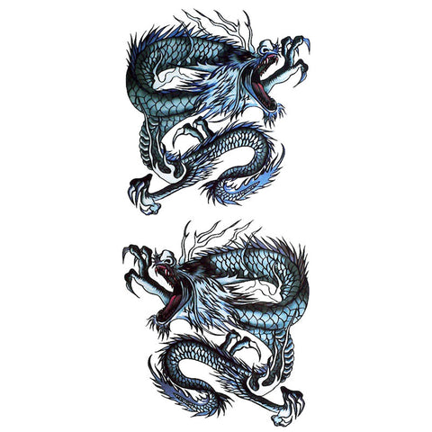 Twin Japanese Dragons Tattoo