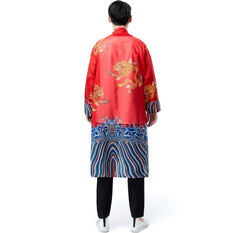Vintage Kimono with a Dragon (red)