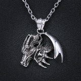 Winged Dragon Charm (Stainless Steel)