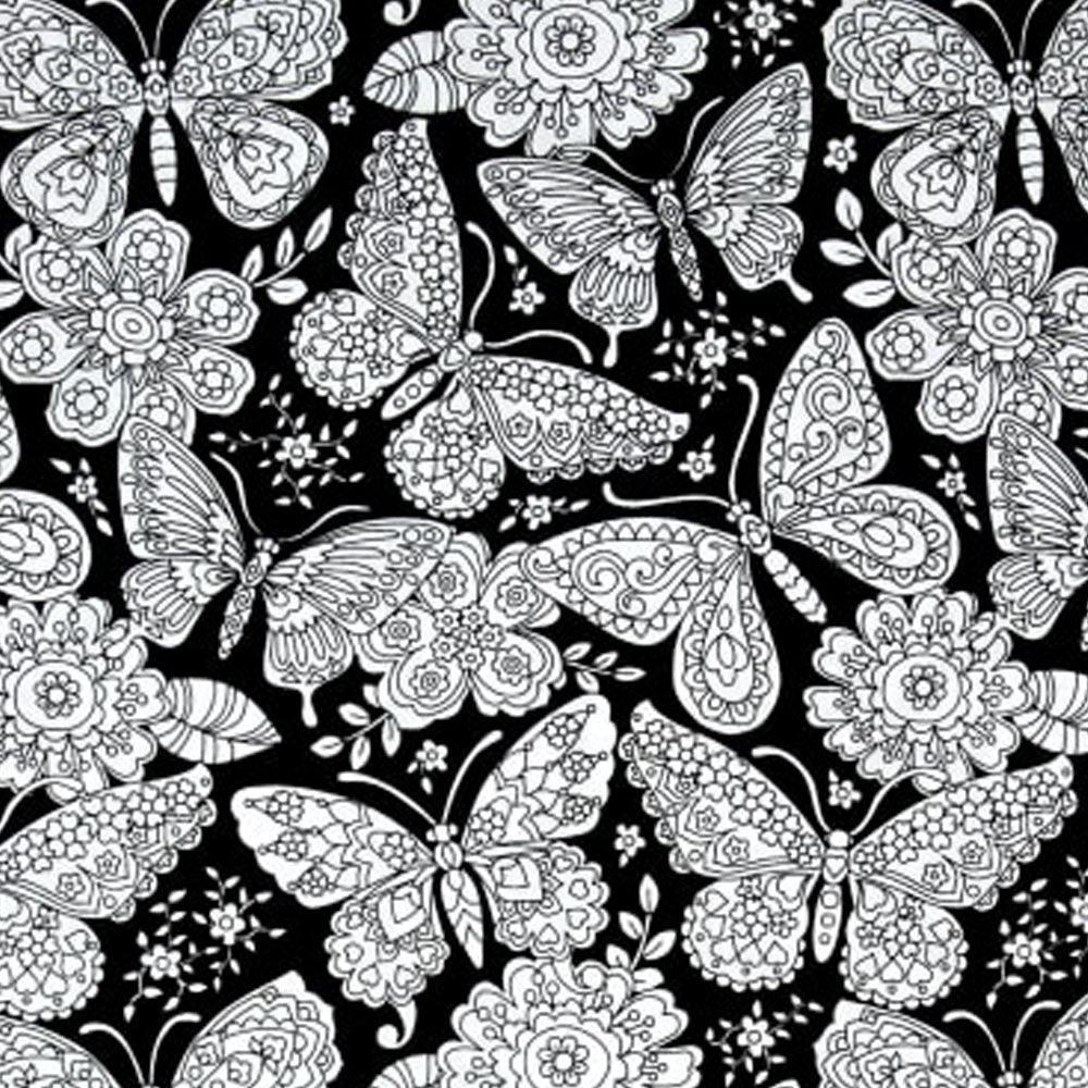 Papillon Paisley - Color Me Fabric - Michael Miller