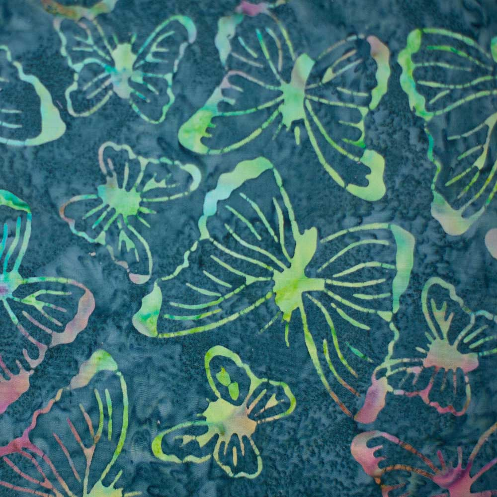 Green Butterfly Batik Pattern 9230- Color 75 - Butterflies - Amazon Batiks