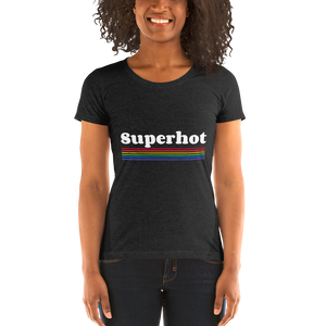 Ultra Premium Super Soft Ladies' short sleeve t-shirt - Superhot Rainbow Logo