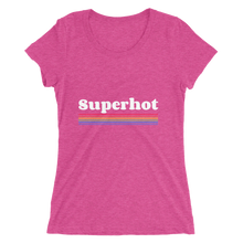 Load image into Gallery viewer, Ultra Premium Super Soft Ladies' short sleeve t-shirt - Superhot Rainbow Logo