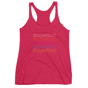 "Superhot ""Rainbow Repeat"" Logo - Ultra Premium Super Soft Women's Racerback Tank"
