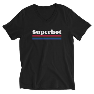 Superhot Rainbow Logo T - Ultimate Unisex Short Sleeve V-Neck T-Shirt