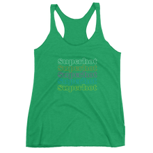 "Load image into Gallery viewer, Superhot ""Rainbow Repeat"" Logo - Ultra Premium Super Soft Women's Racerback Tank"