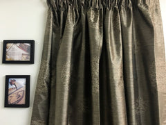 Floral Brown Readymade curtain