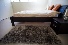 Luxury Milano Charcoal Grey Bedroom&Lounge Rug 1.5m X 0.8m