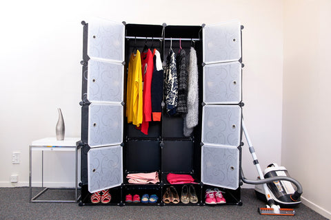 Picture of Wardrobe organiser storage with shoes cabinet Y1