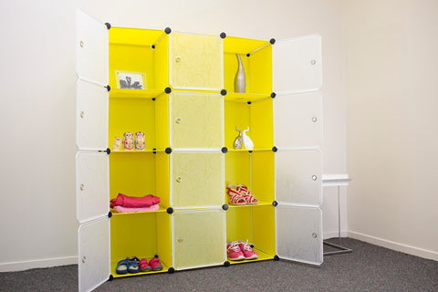 Picture of Cabinet shelf wardrobe storage shelving Y12 - Yellow