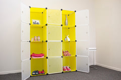 Cabinet shelf wardrobe storage shelving Y12 - Yellow