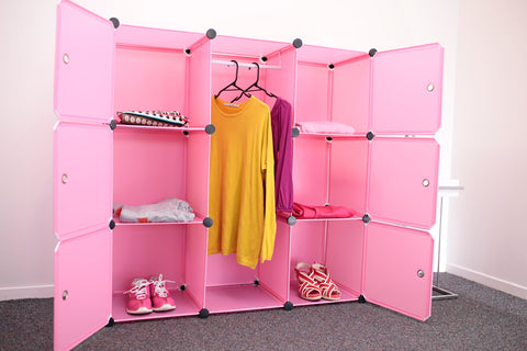 Picture of Wardrobe organiser storage cabinet Y8 - Pink