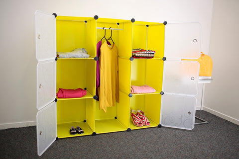 Picture of Wardrobe organiser storage cabinet Y8 - Yellow