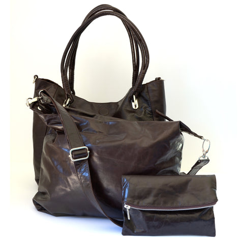 Babushka Dark Brown Leather Bag