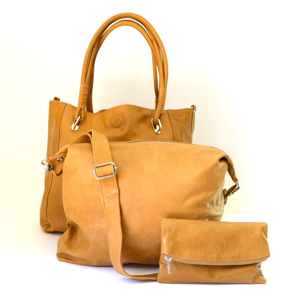 Babushka Tan Leather Bag