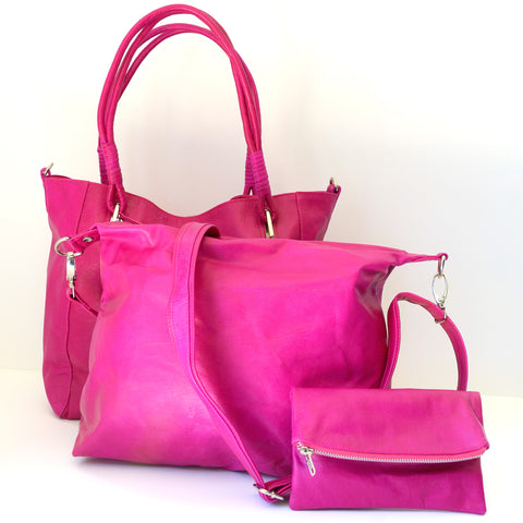 Babushka Pink Leather Bag
