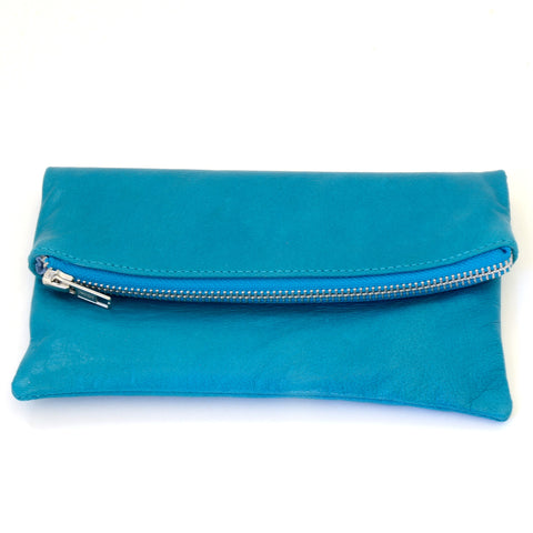 Babushka Turquoise Leather Bag