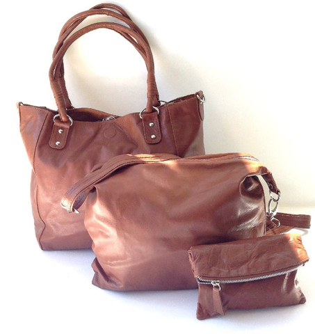 Babushka Brown Leather Bag