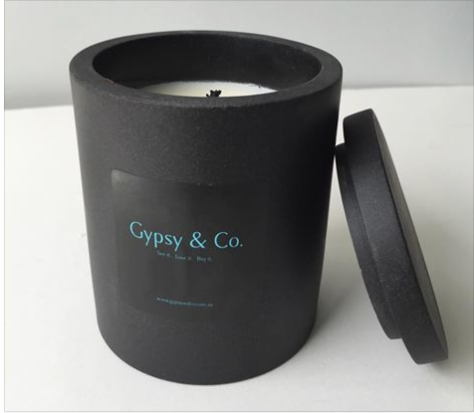 Black Sandstone Candle