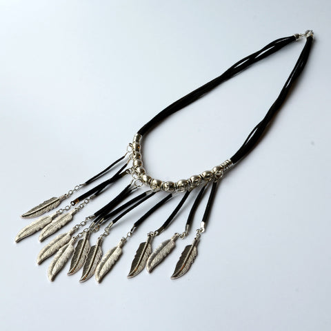 Boho Indian Feather Necklace