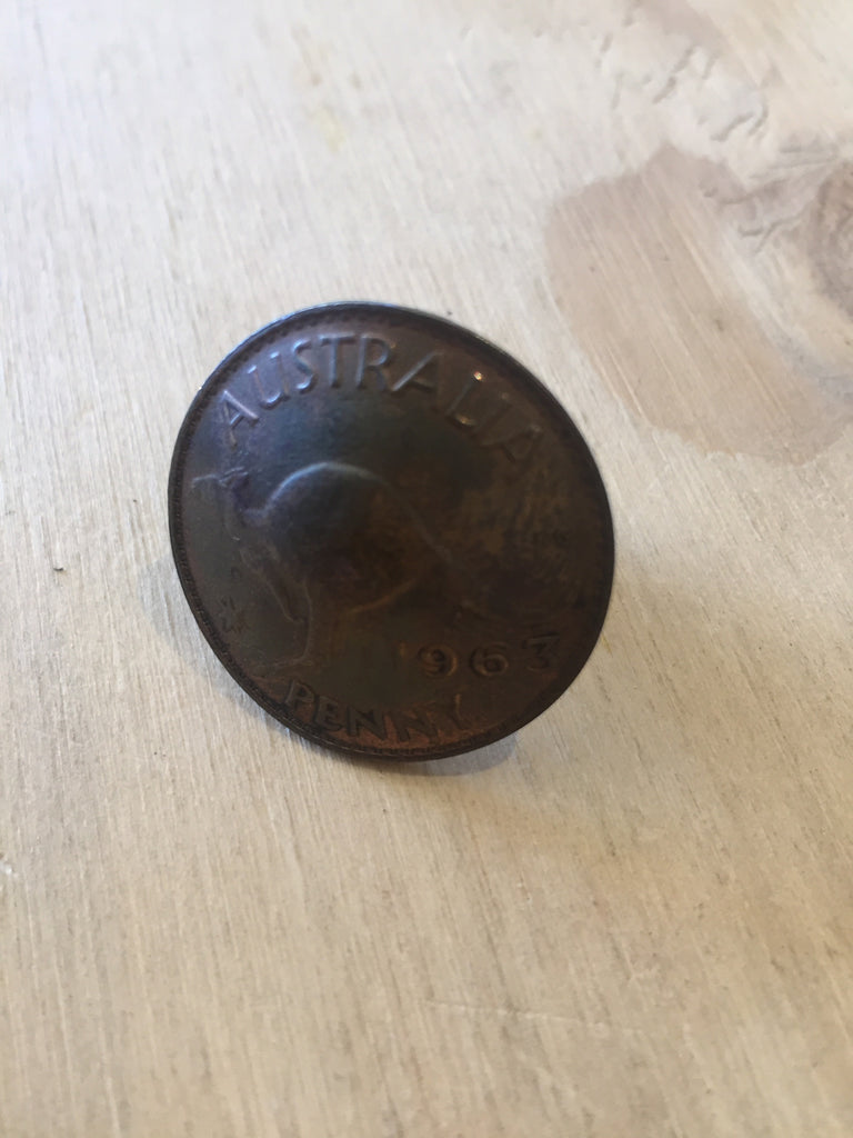 Penny coin ring
