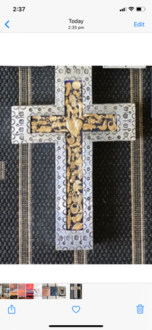 Mexican Wooden Milagros Cross
