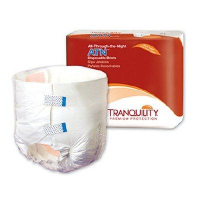 Tranquility® ATN Unisex Adult Incontinence Brief Tranquility® ATN Tab Closure Medium Disposable Heavy Absorbency - CS/96 (21583100)