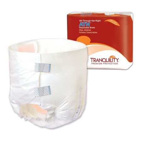 Tranquility® ATN Unisex Adult Incontinence Brief Tranquility® ATN Tab Closure X-Small Disposable Heavy Absorbency - PK/10 (21883101)