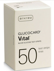 Arkray Glucocard Vital Blood Glucose Test Strips BX/50 - CJ760050